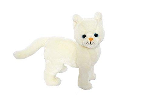 Kingdom Kuddles Plush White Cat Snowball- Stuffed Animal