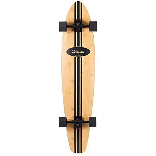 - Retrospec Zed Bamboo Longboard Skateboard Complete Cruiser (Renewed)