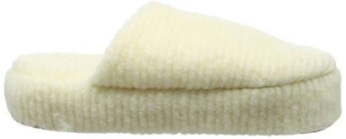Woolsies Damen Waffle Natural Wool Mule Pantoffeln Beige (Cream)