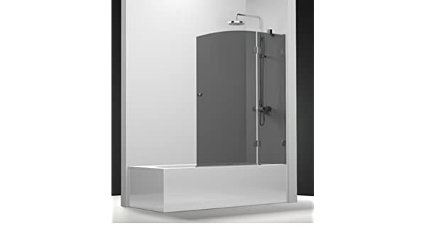 Pare bañera newglass con un Panel fijo y un panel giratoria de ...