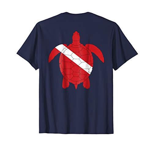 (Diver Down Dive Flag Turtle T-Shirt for Scuba Diving)