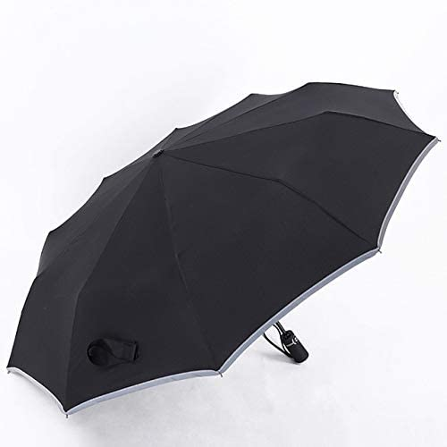 ZGMMM Automatik Regenschirm Herren Taschenschirm Angeln Wasserdicht Mann Sonnenschirm Sonnenschirm Herren Regenschirm schwarz
