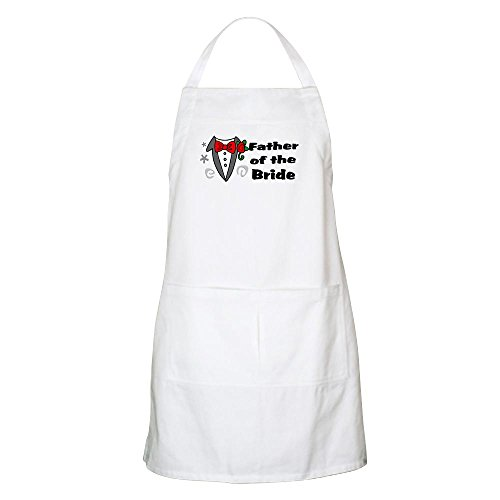(CafePress Father of Bride Apron Kitchen Apron with Pockets, Grilling Apron, Baking Apron)