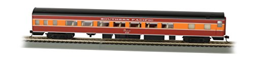 - Bachmann Industries Southern Pacific Daylight Smooth-Side Coach Car with Lighted Interior (HO Scale), 85'