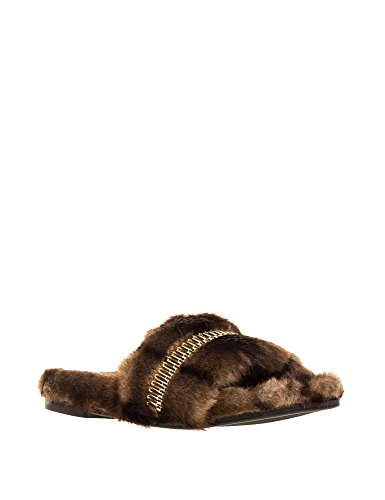 Kendall + Kylie Womens Shade fur Platino Womens Brown Slides Brown