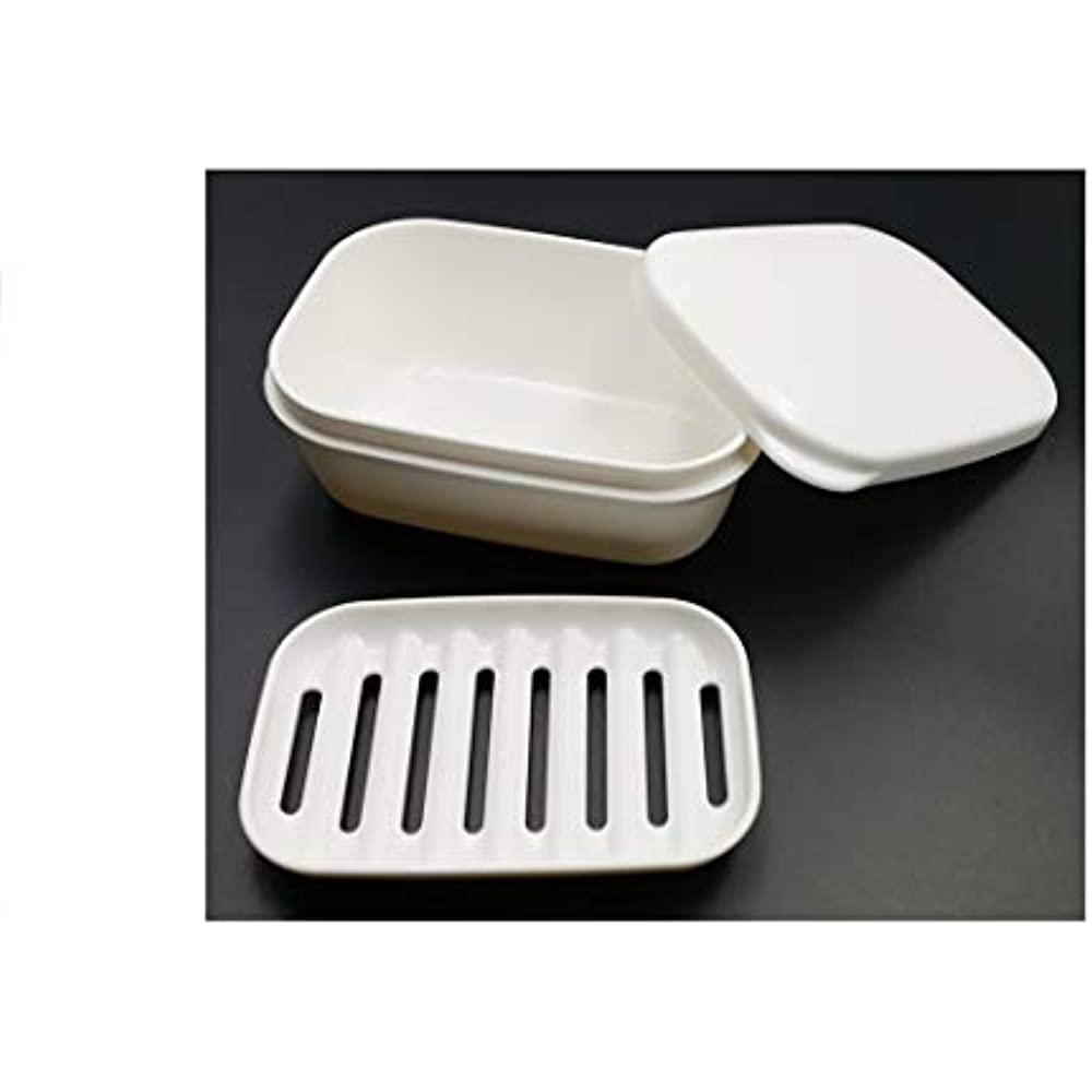 Soap Dish Bamboo Empty Soap Box Shower Case Holder Soap Container Storage Box Portable Soap Tray for Bathroom Home Outdoor Hiking Travel