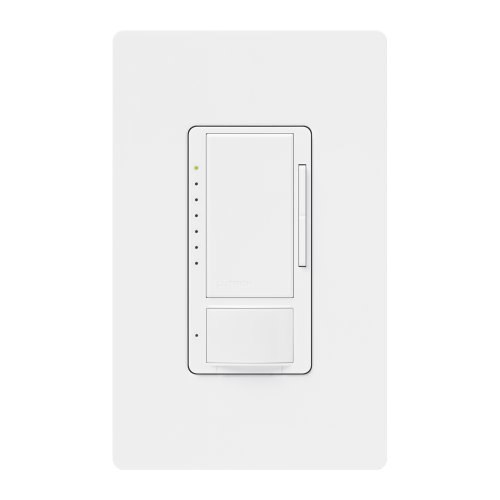 Lutron MS-OP600M-WH Maestro 600 Watt Multi-Location Dimmer with Occupancy Sensor, White ()