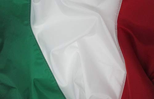 Italian Flag 3x5 ft - Beautiful, Durable, All Weather Nylon, Italy Flag with Fully Sewn Vibrant Stripes - UV Fade Resistant with Grommets - 100% Made in The - Italy Weather