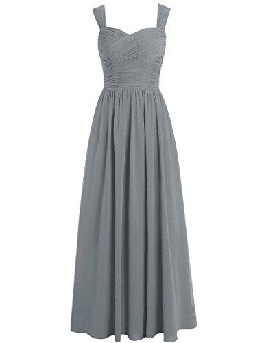 Mujer Vestido grey Steel Para Huini TxBFfqwvB