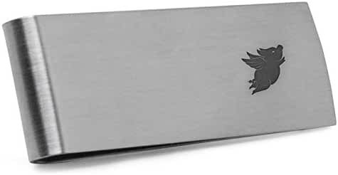 Flying Pig Money Clip | Stainless Steel Money Clip Laser Engraved In The USA.