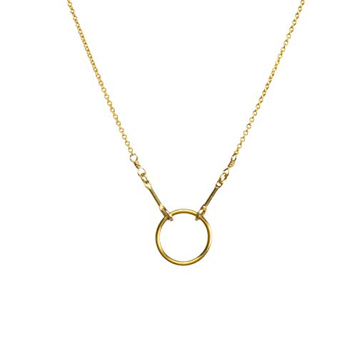 Dogeared Gold Necklace - Dogeared Gold Dipped Original Classic Karma 16