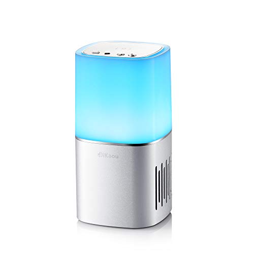 DiKaou Bedside Lamp with Bluetooth Speaker, Dimmable Table Lamp & Bedroom Decor Mood Light with Color Changing ,TWS…