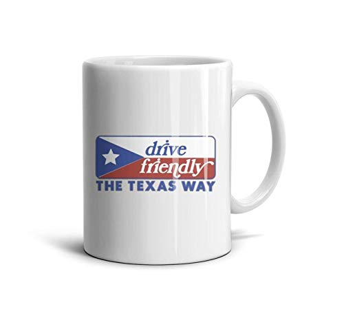 dhaldsa Transportation Decals & Stickers Texas Flag The Lone Star State Vintage Looking Travel Decal Sticker White Mugs Novelty Mug Coffee or TeaMugs ()