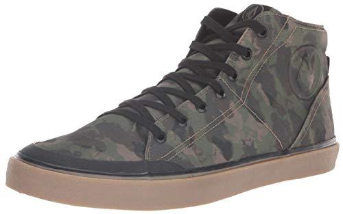 Volcom Men's FI HI TOP Vulcanized Fashion Shoe Skate, Dark camo, 12 D US