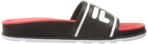 Fila Herren Slicke Athletic Sandale Schwarz Rot