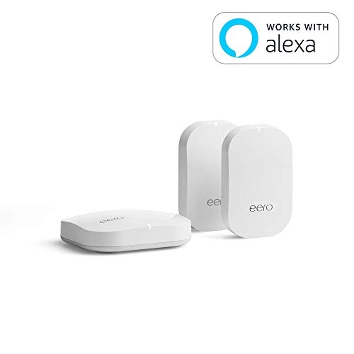 - eero Home WiFi System (1 eero + 2 eero Beacon) – Advanced Tri-Band Mesh WiFi System to Replace Traditional Routers and WiFi Ranger Extenders – Coverage: 2 to 4 Bedroom Home