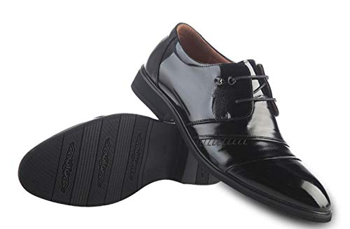 Shiney Casual De Black Negocio Men's Zapatos Office Solo Fashion Career Cuero Acentuado Vestido New rFznpx1fr