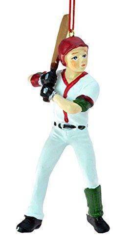 Boy Baseball Player Christmas Ornament 4.75 by Oxbay -