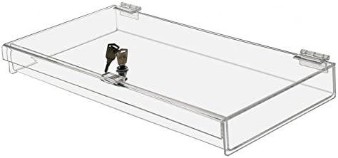 "Display Case Showcase 24/"" X 18/"" X 3.75/"" Clear Acrylic Locking Security Safe Box"