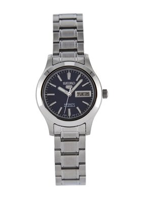 (Seiko Women's SYMD93K1 Seiko 5 Automatic Blue Dial Stainless Steel Watch)
