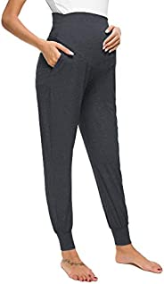 Liu & Qu Womens Maternity Pants Comfort Postpartum Loungewear with Poc