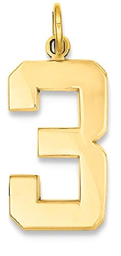 number pendant gold - 7