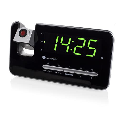 AudioSonic CL-1492 Klokradio met 10 voorinstellingen – projectiewekker, timer- en sluimerfunctie