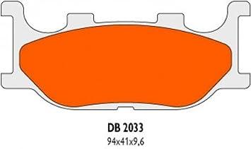 Bremsbel/äge Delta Braking Sinter DB2033RDN f/ür YAMAHA 125 TDR R Baujahr 93-03 Vorne