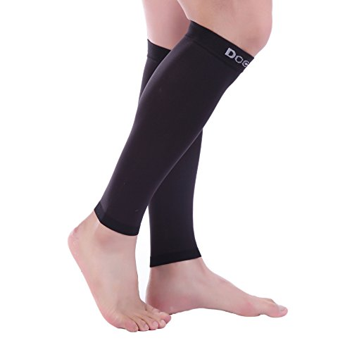 Doc Miller Premium Calf Compression Sleeve 1 Pair 20-30mmHg Strong Calf Support Graduated Pressure for Sports Running Muscle Recovery Shin Splints Varicose Veins (Black, 4X-Large) by Doc Miller (Image #9)
