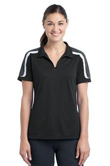 Sport Tek Ladies Tricolor Sport-Wick Polo-XL (Black/Iron Grey/White)