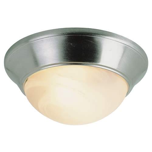 (Trans Globe Athena Flush Mount Light LED-57701BN Brushed Nickel)