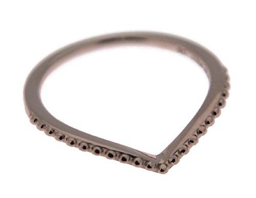 Rings Wishbone Gold (PANDORA Beaded Wish Wishbone Rose Ring, 186315 (54))