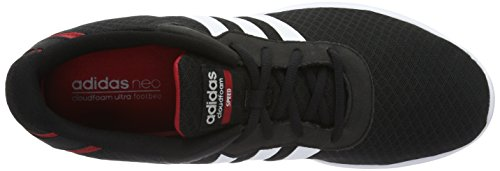 Adidas Neo Cloudfoam Speed Mens Running Sneakers / Shoes Nero