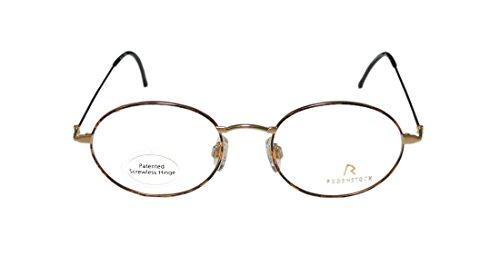 Rodenstock R2421 MensWomens Vision Care Elegant Designer Full-rim EyeglassesEyewear (50-18-145 Gold  Havana)