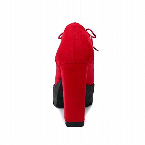 ... Stivaletti Da Donna Con Tacco Alto In Pelle Con Tacco Alto Carolbar  Rosso ...