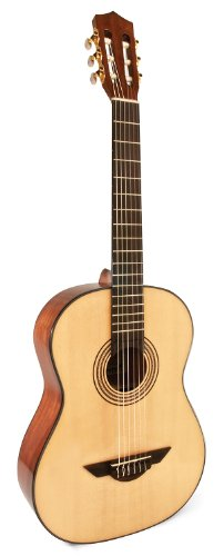(H. Jimenez LG1 Voz Fuerte Nylon String Acoustic Guitar with Spruce Top and Padded Gig Bag - Natural)