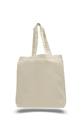 Set of 48 Cotton Reusable Tote Bags - BagzDepot 100 Percent Cotton Blank Wholesale Reusable Grocery Shopping Bags in Bulk - Gift Bags - Decorating Art and Craft Tote Bags -