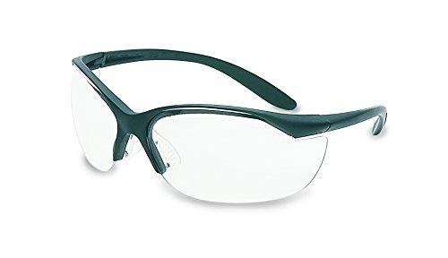 UVEX by Honeywell 11150915 Vapor II Series Safety Eyewear, Black Frame, Clear Lens with Fog-Ban Anti-Fog Coating