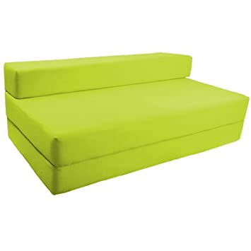 Miraculous Ready Steady Bed Comfortable Double Fold Out Z Bed Chair Futon Lime Green Cotton Caraccident5 Cool Chair Designs And Ideas Caraccident5Info