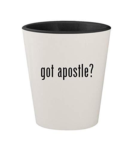 got apostle? - Ceramic White Outer & Black Inner 1.5oz Shot Glass