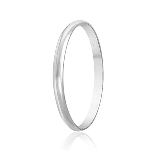 IVYRISE New Fashion 925 Jewelry Silver Charm Big Simple Circle Bracelet / Bangle