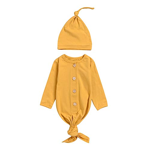 - Norbi Newborn Boy Girl Stripe Print Long Sleeve Sleeping Bag Sleeper Gowns With Headband