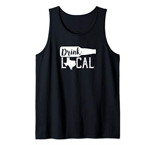 Star Lone Tank - Texas Drink Local Distressed Lone Star State Tank Top