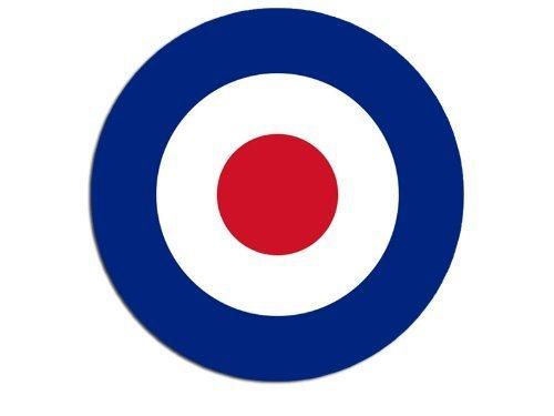 Round British RAF Royal Air Force Roundel Sticker (decal)