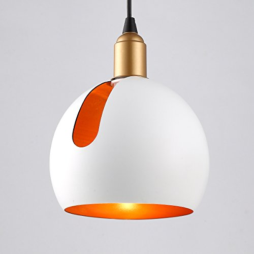 Globe Pendant Light White in US - 8
