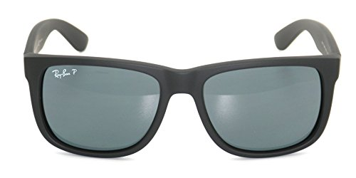 7815a0910c4 Authentic Ray-ban Justin RB 4165 622 2V 55mm Rubber Black   Dark Blue