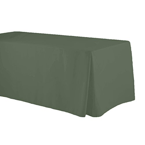 (Fitted Tablecloth Trade Show 6 Ft Corner Pleat 4 sides (30x72) By Runner Linens (Sage))