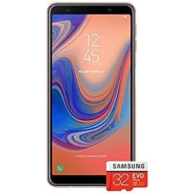 Samsung Galaxy  2018  Single SIM 64GB 6 0-Inch FHD  Android 8 0 Oreo Version Sim-Free Smartphone Gold with 32GB Memory Card  Amazon Memory Edition