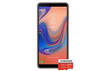 Samsung Galaxy A7 (2018) Single SIM 64GB 6 0-Inch FHD+ Android 8 0 Oreo UK  Version Sim-Free Smartphone - Gold with 32GB Memory Card (Amazon Memory