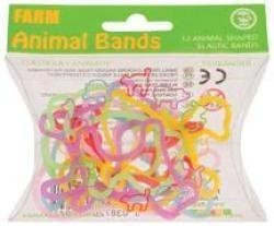 (Farm Shaped Rubber Bands - 12 Pack by Toysmith)